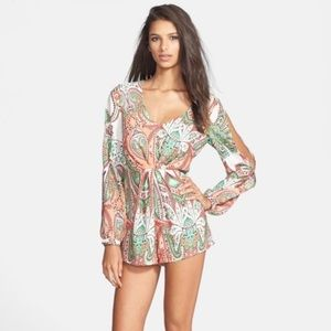 Filtre Paisley Fall Long Sleeve Romper Size Small